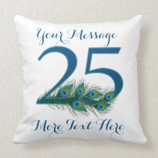 Personalized text classy 25th Birthday 25 Pillows