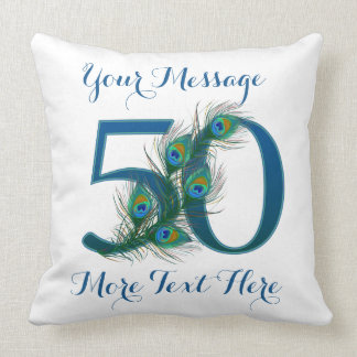 Personalized text classy 50th Birthday 50 Pillows