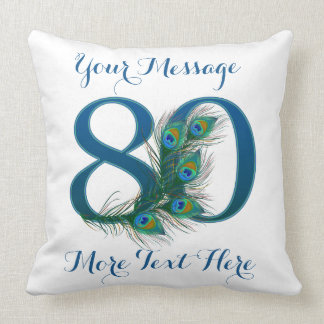 Personalized text custom 80th Birthday 80 Pillows
