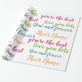 Personalized TEXT GiftWrap - Handwriting Script Wrapping Paper