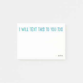 Personalized text message Post-it note