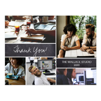 Personalized, Thank You, Corporate Photo collage Postcard