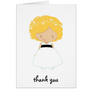 Personalized Thank You For Being Our Flower Girl Card