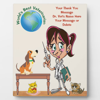 Personalized Thank You Gifts for Veterinarian Plaque