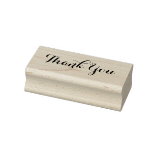 Personalized Thank You II Rubber Stamp