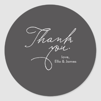 Personalized Thank You Sticker // True Love