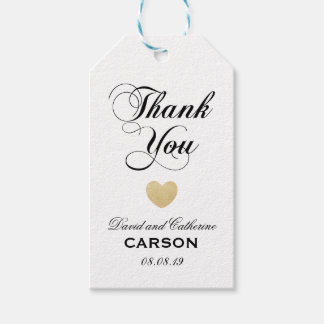 Personalized Thank You Wedding Favor Pack Of Gift Tags