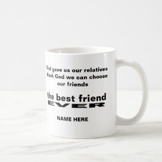 Personalized the best friend ever white mug