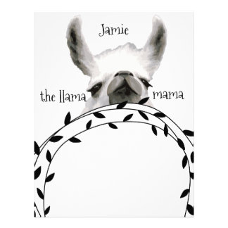 Personalized The Llama Mama Letterhead Template