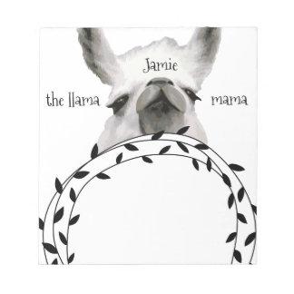 Personalized The Llama Mama Notepad