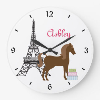 Personalized The Pretty Ponies Paris Horse Clock