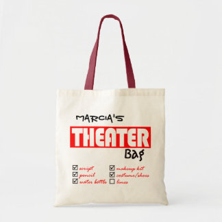 Personalized Theater Tote Bag