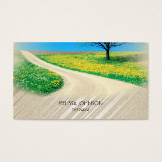Personalized Therapist Psychologist Nature Relax Business Card