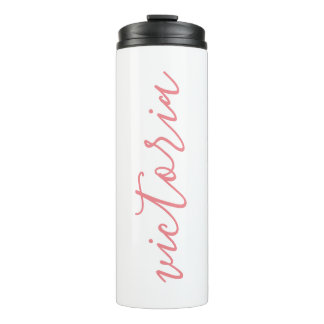 Personalized Thermal Tumbler | White