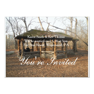 Personalized this Beautiful Rustic Invitation