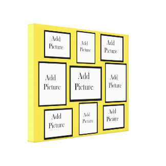 Personalized this Yellow Background Photo Collage Canvas Print
