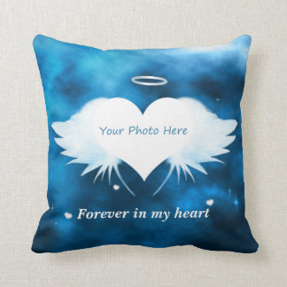 Personalized Throw Pillow - Angel of the Heart
