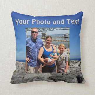 Personalized Throw Pillows, Your Photo and Text Throw Pillow
