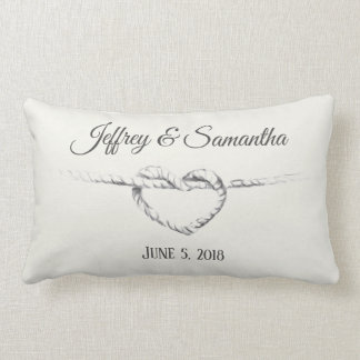 Personalized Tie the Knot pillow