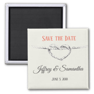 Personalized Tie the Knot / Save the Date magnet