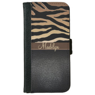 Personalized Tiger Print Wallet Phone Case