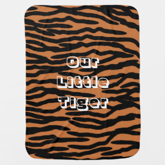 Personalized Tiger Skin Design Baby Blanket