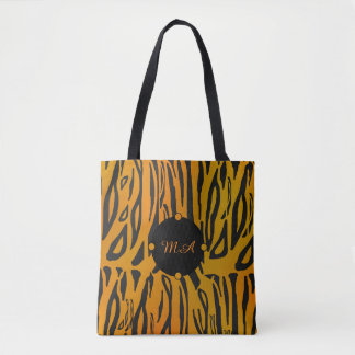 Personalized Tiger Skin Tote Bag