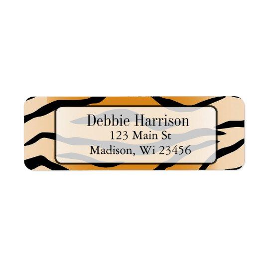 Personalized Tiger Stripes Return Address Labels