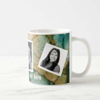 Personalized Tilted Photos and Custom Text Coffee Mug