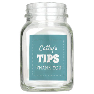 Personalized Tips Blue Name Jar
