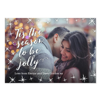 Personalized Tis the Season to be Jolly photo card