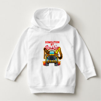 Personalized Toddler Construction Demolition Truck Hoodie