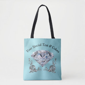 Personalized Tote Bags for Her, Stunning Diamond