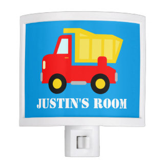 Personalized toy dump truck night light for kids
