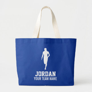 Personalized Track Cross Country Runners Name Team Large Tote Bag