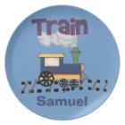 Personalized Train Kids Plate