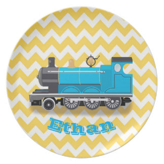 Personalized Train Melanine Plate