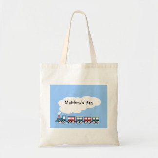 Personalized Train Tote Bag