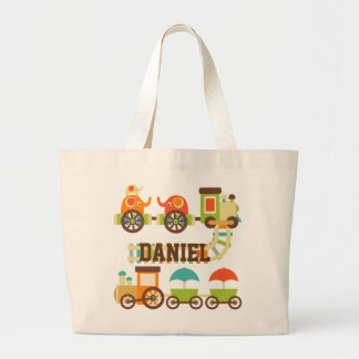Personalized Trains Tote Bag