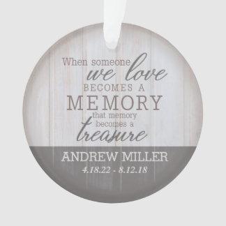 Personalized Treasured Memory Acrylic Ornament