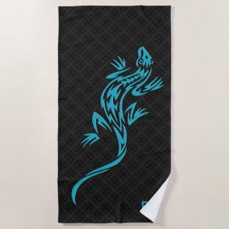 Personalized Tribal  Lizard Beach Towel