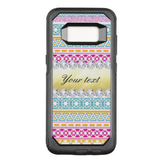 Personalized Tribal Pattern and Diamonds OtterBox Commuter Samsung Galaxy S8 Case