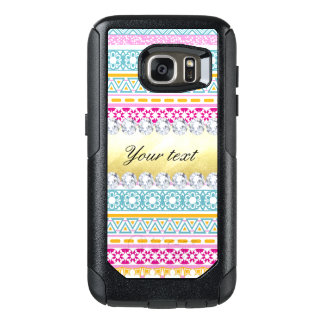 Personalized Tribal Pattern and Diamonds OtterBox Samsung Galaxy S7 Case