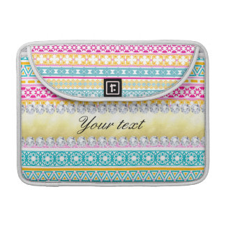 Personalized Tribal Pattern and Diamonds Sleeve For MacBooks