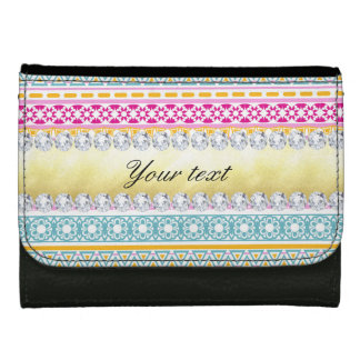 Personalized Tribal Pattern and Diamonds Wallet