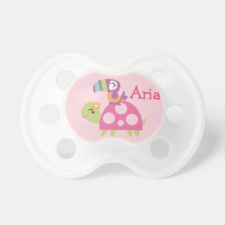"Personalized ""Tropical Garden Turtle""  Pacifier"