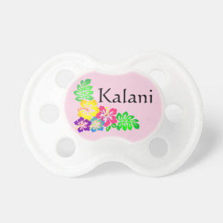 Personalized Tropical Pink Hibiscus Pacifier