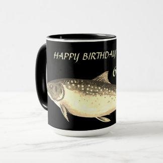 Personalized Trout design  60th Birthday Grandpa Mug
