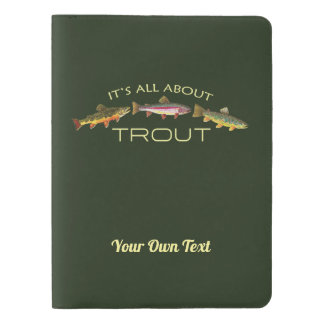Personalized Trout Fishing Extra Large Moleskine Notebook