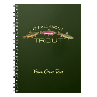 Personalized Trout Fishing Notebooks